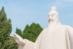 SHANXI, CHINA -  Aug 23 2015: Emperor Shun Statue at Emperor Shu Stock Photography