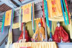 SHANXI, CHINA -  Aug 23 2015: Emperor Shun Statues at Emperor Sh Royalty Free Stock Image