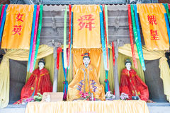 SHANXI, CHINA -  Aug 23 2015: Emperor Shun Statues at Emperor Sh Stock Photo