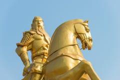 SHANXI, CHINA -  Aug 28 2015: Guan Yu Statue at Yuncheng Railway Royalty Free Stock Image