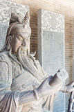 SHANXI, CHINA - Aug 24 2015: Guanyu Statue at Changping Guandi. Temple. a famous historic site in Yuncheng, Shanxi, China royalty free stock photos