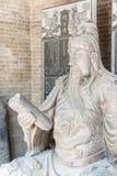 SHANXI, CHINA - Aug 24 2015: Guanyu Statue at Changping Guandi. Temple. a famous historic site in Yuncheng, Shanxi, China stock image