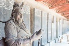 SHANXI, CHINA - Aug 24 2015: Guanyu Statue at Changping Guandi. Temple. a famous historic site in Yuncheng, Shanxi, China stock photography