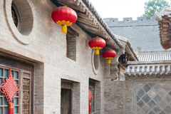 SHANXI, CHINA - Aug 29 2015: Gucheng Dayuan(Folk Museum). a famo. Us historic site in Linfen, Shanxi, China Royalty Free Stock Photo