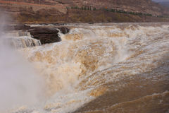 Shanxi, China - de Gele Waterval van Rivierhukou Royalty-vrije Stock Afbeeldingen