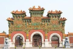 SHANXI, CHINA - de sept. el 21 de 2015: Templo de Fahua un S histórico famoso Fotografía de archivo libre de regalías