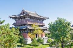 SHANXI, CHINA - de sept. el 25 de 2015: Templo de Huayan un histórico famoso Fotografía de archivo libre de regalías