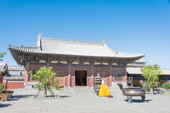 SHANXI, CHINA - de sept. el 25 de 2015: Templo de Huayan un histórico famoso Imagen de archivo