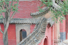 SHANXI, CHINA - de sept. el 03 de 2015: Templo de Shuanglin (mundo Heri de la UNESCO Fotos de archivo