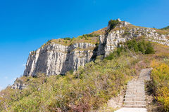 SHANXI, CHINA - 19 Sept. 2015: Bergweg in Heng Shan een famo Royalty-vrije Stock Afbeeldingen
