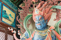 SHANXI, CHINA - 25 Sept. 2015: Buddastandbeelden bij Huayan-Tempel A Royalty-vrije Stock Foto