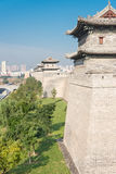 SHANXI, CHINA - Sept. 23 2015: Datong-Stadtmauer ein berühmtes Histor Stockfotos