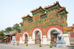SHANXI, CHINA -  Sept 21 2015: Fahua Temple. a famous historic s. Ite in Datog, Shanxi, China Royalty Free Stock Photos