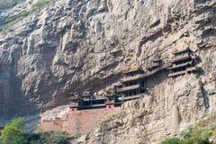 SHANXI, CHINA - Sept. 18 2015: Hängendes Kloster (Xuankong-Tempel) A Lizenzfreies Stockbild