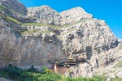 SHANXI, CHINA - Sept. 18 2015: Hängendes Kloster (Xuankong-Tempel) A Lizenzfreie Stockfotos