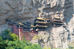 SHANXI, CHINA - Sept 18 2015: Hanging Temple(Xuankong Temple). a Royalty Free Stock Photos