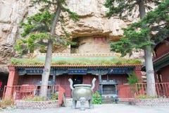 SHANXI, CHINA - 19 Sept. 2015: Heng Shan een beroemde Historische Plaats Royalty-vrije Stock Afbeelding