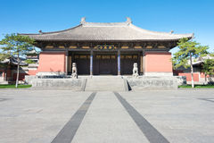 SHANXI, CHINA - Sept. 25 2015: Huayan-Tempel ein berühmtes historisches Lizenzfreies Stockfoto