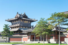 SHANXI, CHINA -  Sept 25 2015: Huayan Temple. a famous historic. Site in Datog, Shanxi, China Royalty Free Stock Image