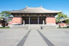 SHANXI, CHINA - 25 Sept. 2015: Huayantempel beroemde Historisch Royalty-vrije Stock Foto
