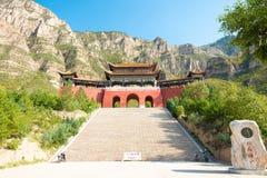 SHANXI, CHINA - 19 Sept. 2015: Ingangspoort in Heng Shan een famo Royalty-vrije Stock Foto's