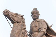 SHANXI, CHINA -  Sept 27 2015: Li Shimin Statues at Jinci Temple Stock Images