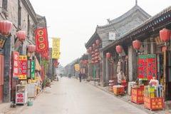 SHANXI, CHINA - Sept. 08 2015: Morgen-Ansicht der alten Stadt PUs Stockfotografie