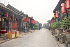 SHANXI, CHINA - Sept. 08 2015: Morgen-Ansicht der alten Stadt PUs Lizenzfreie Stockfotografie