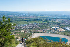 SHANXI, CHINA -  Sept 12 2015: Taiyuan view from Juewei Mountain Stock Photography