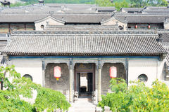 SHANXI, CHINA - Sept 05 2015: Wang Family Courtyard um h famoso Foto de Stock