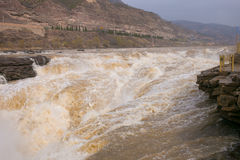 Shanxi, China - the Yellow River Hukou Waterfall Stock Images
