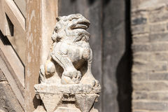 SHANXI, CHINE - septembre 05 2015 : Statue chez Wang Family Courtyard Image stock