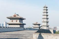 SHANXI, CHINY - Sept 23 2015: Datong miasta ściana sławny Histor Fotografia Royalty Free