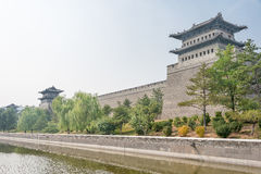 SHANXI, CHINY - Sept 21 2015: Datong miasta ściana sławny Histor Obraz Stock