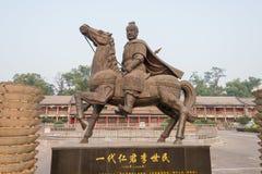 SHANXI, CHINY - Sept 27 2015: Li Shimin statuy przy Jinci świątynią Fotografia Stock