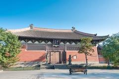 SHANXI, CHINY - Sept 23 2015: Shanhua świątynia sławny Historyczny Obraz Stock