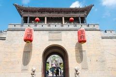 SHANXI, CHINY - Sept 05 2015: Wang rodziny podwórze sławny h zdjęcie stock