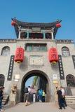 SHANXI, CHINY - Sept 05 2015: Wang rodziny podwórze sławny h obrazy royalty free