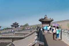 SHANXI, CHINY - Sept 05 2015: Wang rodziny podwórze sławny h fotografia royalty free