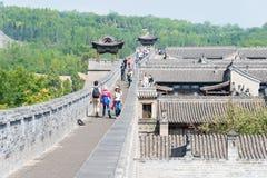 SHANXI, CHINY - Sept 05 2015: Wang rodziny podwórze sławny h fotografia stock