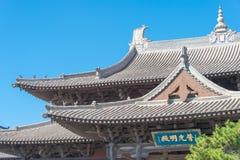 SHANXI, CINA - il 25 settembre 2015: Tempio di Huayan uno storico famoso fotografie stock