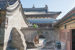 SHANXI, CINA - il 25 settembre 2015: Tempio di Huayan uno storico famoso fotografia stock libera da diritti