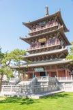 SHANXI, CINA - il 25 settembre 2015: Tempio di Huayan uno storico famoso immagini stock libere da diritti