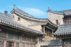 SHANXI, CINA - il 05 settembre 2015: Wang Family Courtyard una h famosa Fotografia Stock Libera da Diritti