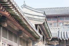 SHANXI, CINA - il 05 settembre 2015: Wang Family Courtyard una h famosa Immagini Stock Libere da Diritti