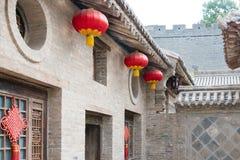 SHANXI KINA - Augusti 29 2015: Gucheng Dayuan (Folk museum) en famo Royaltyfri Foto