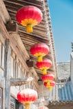 SHANXI KINA - Augusti 29 2015: Gucheng Dayuan (Folk museum) en famo Royaltyfri Bild
