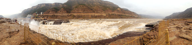 Shanxi Kina den Yellow River Hukou vattenfallet Royaltyfria Foton