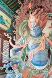 SHANXI KINA - Sept 25 2015: Budda statyer på den Huayan templet A Arkivbild