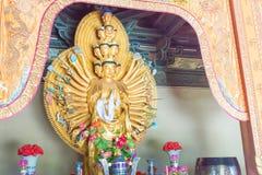 SHANXI KINA - Sept 25 2015: Budda statyer på den Huayan templet A Royaltyfria Bilder